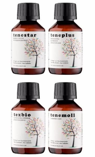 tenestar, teneplus, texbio, tenemoll - 4 × 100 ml Reise-Set